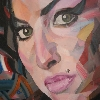 Amy Whinehouse 130x125cm